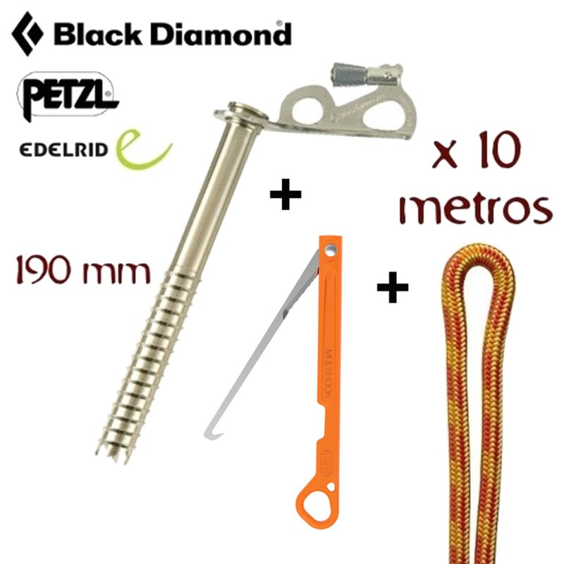 Black Diamond Accesorio para herramientas de escalada en hielo Express Ice Screws